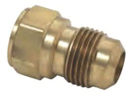 "1/2"" Rough Brass Male Straight Adapter - 45D Flare Compression x MPT"