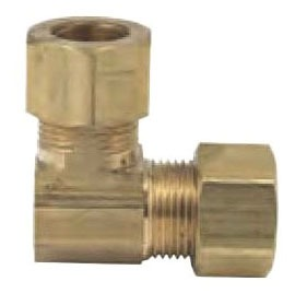 "3/8"" Outer Diameter Compression x Compression Brass 90D Elbow"