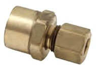 "3/8"" Outer Diameter X 1/4"" Compression x Female Threaded Adapter"