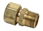 "3/8"" Rough Brass Male Straight Adapter - Compression x MPT"