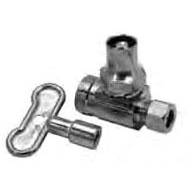 "Threaded/Compression Water Supply Stop Chrome Plated Brass Female Threaded x Compression 1/2"" x 3/8"" Outer Diameter"