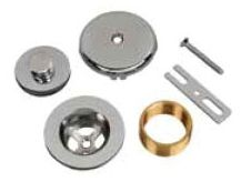Satin Nickel Bath Waste and Overflow Finish Kit - AB&A