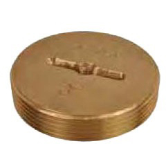 """6"""" Brass Slotted Head Countersunk Cleanout Plug"""