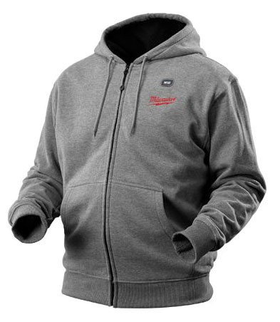 X-Large Gray Heated Hoodie - M12 / REDLITHIUM Rechargeable, Cordless, Cotton Blend, 12 V