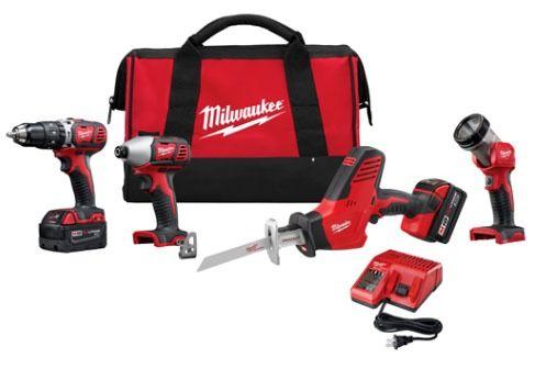 4-Tool Cordless Combination Power Tool Kit - M18