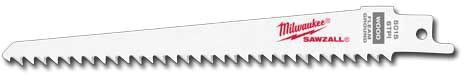 "6"" 6 Teeth per Inch Taper Back Saw Blade, Bi-Metal"