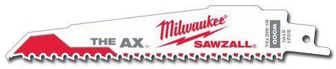 "6"" Bi-Metal Teeth Reciprocating Saw Blade - SAWZALL / The Ax, 5 TPI"
