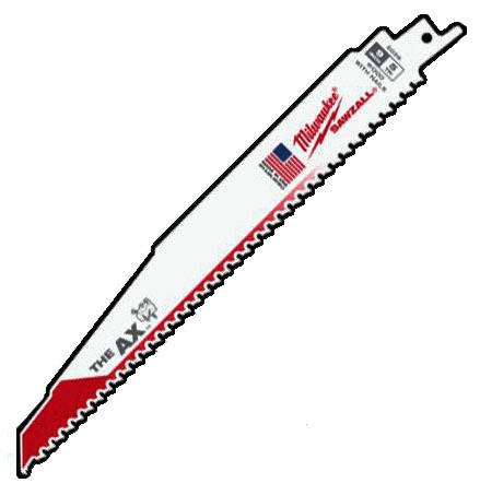 "9"" Bi-Metal Teeth Reciprocating Saw Blade - SAWZALL / The Ax, 5 TPI"