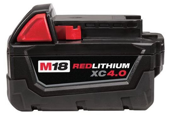 18 V Lithium-Ion Compact Power Tool Battery Pack - M18 / REDLITHIUM XC 4.0, Extended Capacity, 4 AH