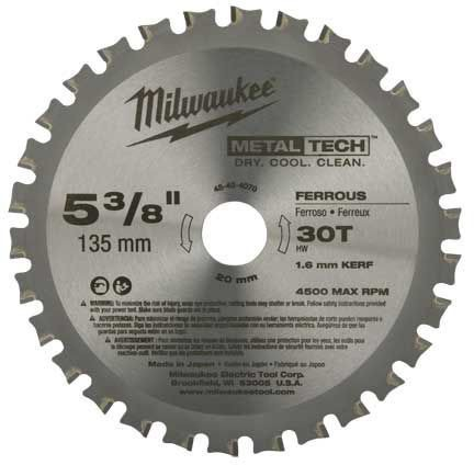 "MetalTech 5-3/8"" Ripping Circular Saw Blade, Metal"