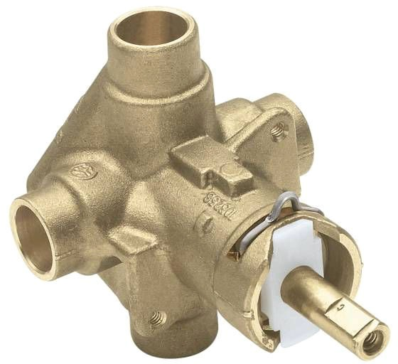 "1/2"" Pressure Balancing Tub and Shower Valve - M-Pact / Posi-Temp, NPT / Soldered, Brass, 4-Port"