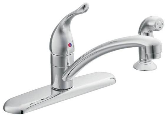 Kitchen Faucet with Low-Arc Spout & Single Lever Handle - Chateau, Chrome Plated, Deck Mount, 2 GPM