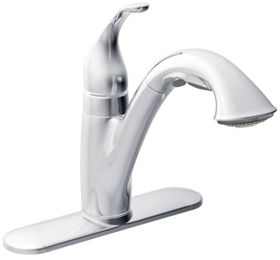 Camerist Chrome One-Handle Pullout Kitchen Faucet