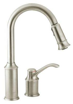 Aberdeen Deck Mount Kitchen Faucet, Classic Stainless Steel