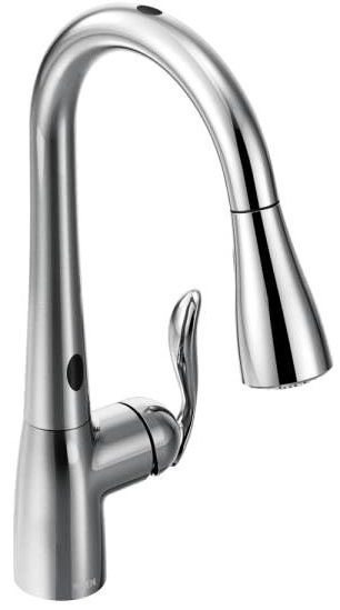 MotionSense Deck Mount Kitchen Faucet, Chrome Plated