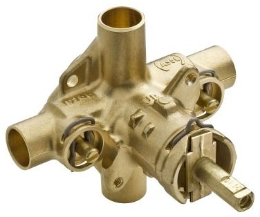 Soldered/Threaded Tub and Shower Valve Brass