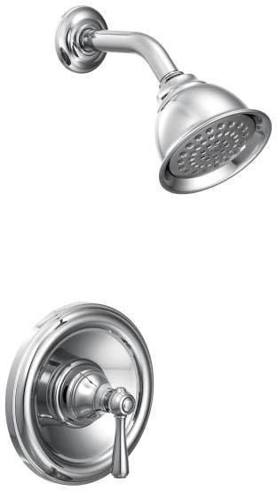 Posi-Temp Wall Mount Shower Faucet Trim, Chrome Plated