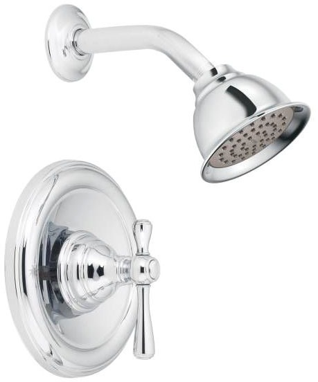 Kingsley, Moentrol Wall Mount Shower Faucet, Chrome Plated