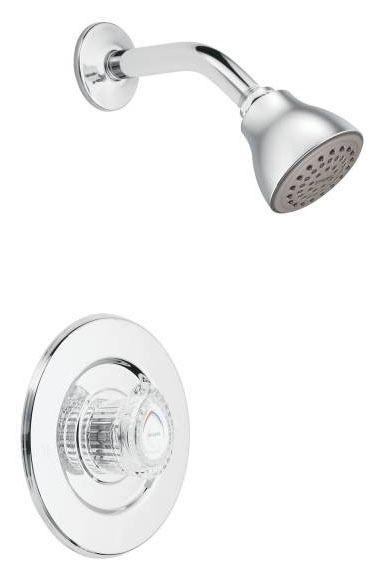 Shower Trim with Single Knob Handle - Chateau, Chrome Plated, Wall Mount, 2.5 GPM