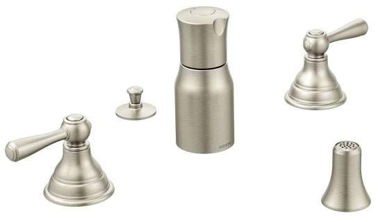 Kingsley Brushed Nickel Two-Handle Bidet Faucet