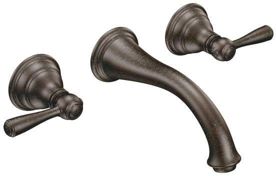 Wall Mount Bathroom Sink Faucet, Lead-Free Oil Rubbed Bronze