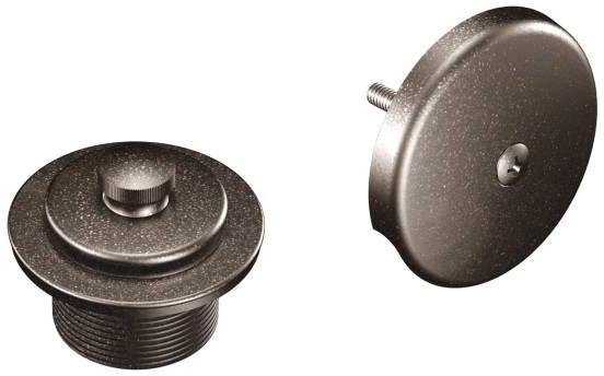 Round Tub and Shower Drain Cover, Oil Rubbed Bronze
