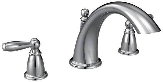 Brantford Deck Mount Tub Faucet, Chrome Plated