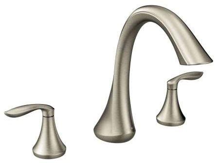 Eva Deck Mount Tub Faucet, Brushed Nickel