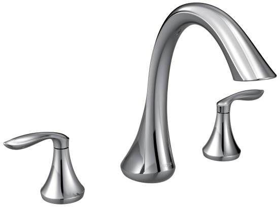 Eva Deck Mount Tub Faucet, Chrome Plated