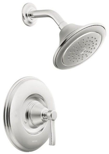 Shower Trim with Single Lever Handle - Rothbury / Posi-Temp, Chrome Plated, Wall Mount, 2.5 GPM