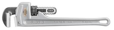 "10"" Straight Pipe Wrench, Aluminum/Alloy Steel"