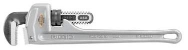"18"" Straight Pipe Wrench, Aluminum/Alloy Steel"