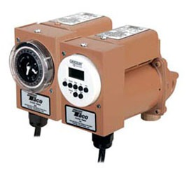 "1/40 HP Circulator Pump with Analog Timer - Plumb n' Plug, Bronze, 0 to 11.5 GPM, 115 V, 3/4"" Solder"