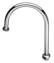 Swivel Gooseneck Faucet Spout - Chrome Plated Brass