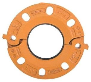 "2-1/2"" Ductile Iron Grooved Flange Adapter - Split, EPDM Gasket, Painted"