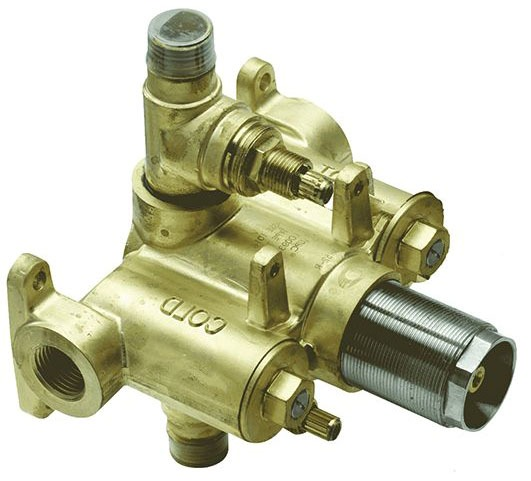Threaded/Soldered Tub and Shower Valve, Forged Brass