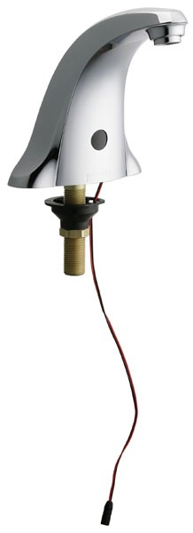 Electronic Faucet with Integral Spout & Dual Beam Infrared Sensor - E-Tronic, Chrome Plated, Cast Brass, Deck Mount, 0.5 GPM