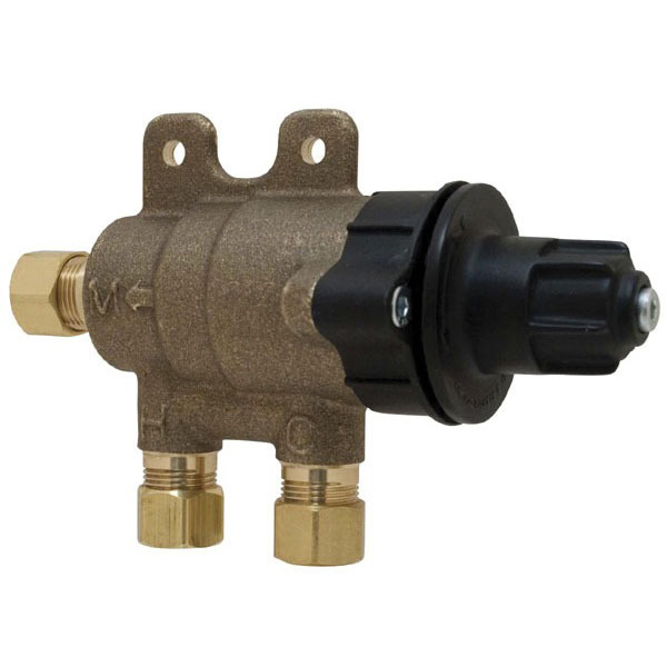 Compression Thermostatic Mixing Valve, Brass 3/8""