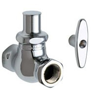 Threaded Straight Stop Faucet Supply Kit, Chrome Plated