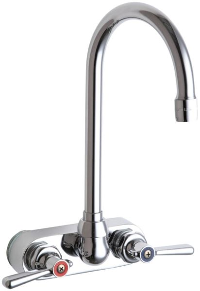 Wall Mount Hot and Cold Water Sink Faucet Chrome Plated