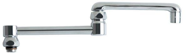 Deck Mount Double Joint Swing Faucet Spout - ECAST, Chrome Plated
