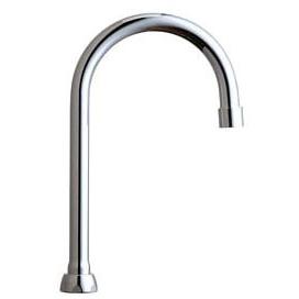Rigid / 360D Swing Gooseneck Faucet Spout - ECAST, Chrome Plated Cast Brass