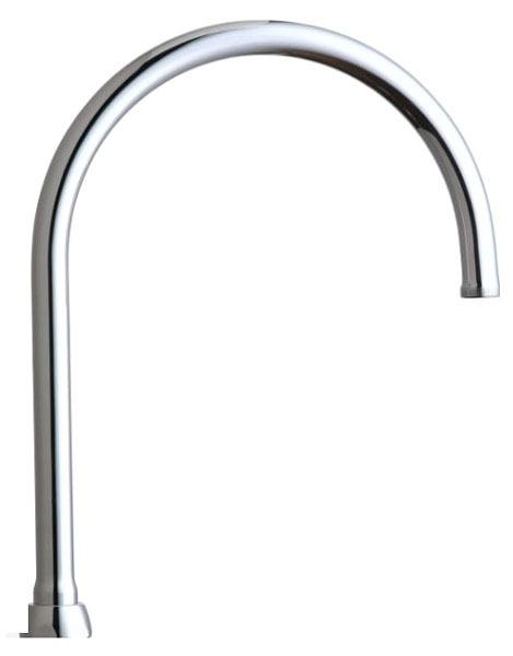 Rigid/360 Degree Swing Gooseneck Faucet Spout, Lead-Free Chrome Plated