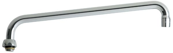 """Type L 360 Degree Swing Faucet Spout, Lead-Free Chrome Plated 14"""""""