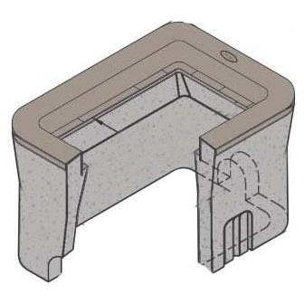 """12"""" x 19-3/4"""" x 14-5/16"""" Utility Box - Reinforced Concrete"""