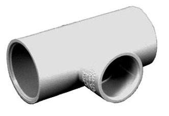 "3/4"" x 1/2"" x 3/4"" CPVC Reducing Tee - SDR 11, Socket"