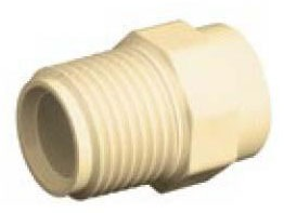 "3/4"" CPVC Male Straight Adapter - Soc x MPT, Schedule 40"