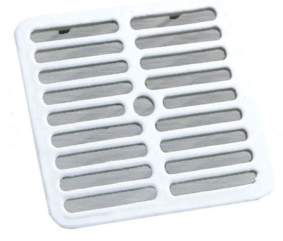 Floor Sink Full Top Grate, Cast Iron