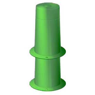 "Injection Molded Polyethylene 1-Piece Piping Hole Sleeve Form 10"" Top Hole Diameter x 10-7/16"" Base Hole Diameter"