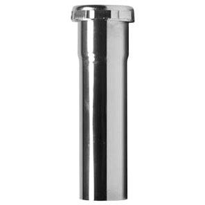 "1-1/2"" X 12"" Slip Joint Tubular Drain Extension Tube, Brass Chrome Plated"